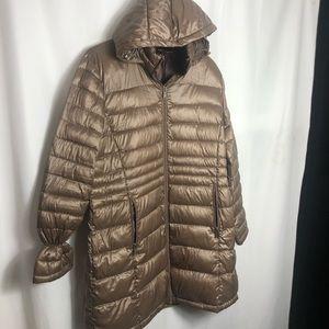 Andrew Marc Packable Down Parker Jacket size xl